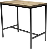 Обеденный стол Buro7 Большой Классика 118x64x106 (дуб беленый/черный) -