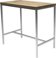 Обеденный стол Buro7 Большой Классика 118x64x106 (дуб беленый/серебристый) -