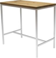Обеденный стол Buro7 Большой Классика 118x64x106 (дуб натуральный/белый) -