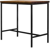 Обеденный стол Buro7 Большой Классика 118x64x106 (дуб натуральный/черный) -