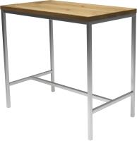 Обеденный стол Buro7 Большой Классика 118x64x106 (дуб натуральный/серебристый) -