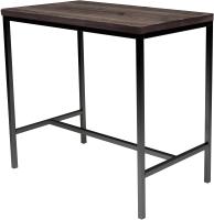 Обеденный стол Buro7 Большой Классика 118x64x106 (дуб мореный/черный) -