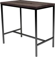 Обеденный стол Buro7 Большой Классика 118x64x106 (дуб мореный/серебристый) -