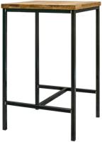 Обеденный стол Buro7 Малый Классика 64x64x106 (дуб натуральный/черный) -