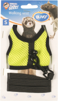Шлея-жилетка для животных Duvo Plus Walking Vest / 1717084/DV (S, желто-зеленый) -