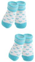 Носочки для животных Puppia Angel Heart / PAMD-SO073-SB-L (голубые сердечки) -
