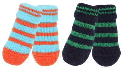 Носочки для животных Puppia Nitty-Gritty / PAND-SO1176-NY-L (синие с зелеными полосками)