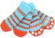 Носочки для животных Puppia Nitty-Gritty / PAND-SO1176-AQ-M (голубые с красными полосками) -