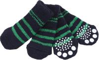 Носочки для животных Puppia Nitty-Gritty / PAND-SO1176-NY-M (синие с зелеными полосками) -