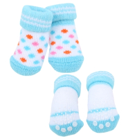 Носочки для животных Puppia Polka Dot II / PAOC-SO1269-SB-M (голубой) -