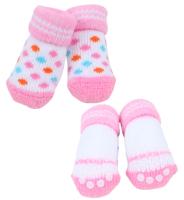 Носочки для животных Puppia Polka Dot II / PAOC-SO1269-PK-М (розовый) -