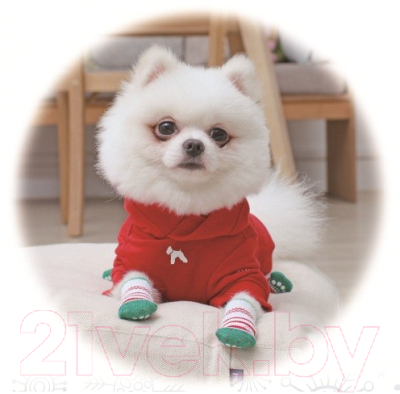 Носочки для животных Puppia Crinch / PAOC-SO1270-GR-L (зеленый)