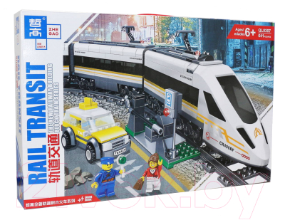 Конструктор электромеханический Zhe Gao City Электромеханический Скоростной поезд / QL0307