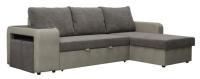 Комплект мягкой мебели Комфорт-S Феликс с двумя банкетками (верона 05/нубук Грей) -