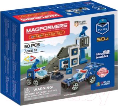 Конструктор магнитный Magformers Amazing Police Set / 717002