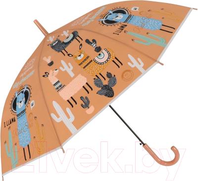 Зонт-трость Михи Михи Лама с кактусами / MM10426