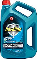 Моторное масло Texaco Havoline Energy 0W20 / 804046MHE (4л) -