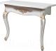 Консольный столик Мебель-КМК №1 Розалия 0517 (белый жемчуг/патина золото) -