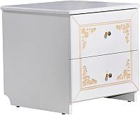 Прикроватная тумба Мебель-КМК Верона 0469.4 (белый/патина золото) -
