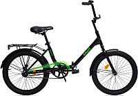 Велосипед AIST Smart 1.1 (20, черный/зеленый) -