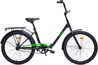 Велосипед AIST Smart 1.1 (24, черный/зеленый) -