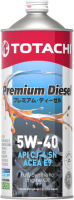 Моторное масло Totachi Premium Diesel 5W40 CJ-4/SM / 4562374690738 (1л) -