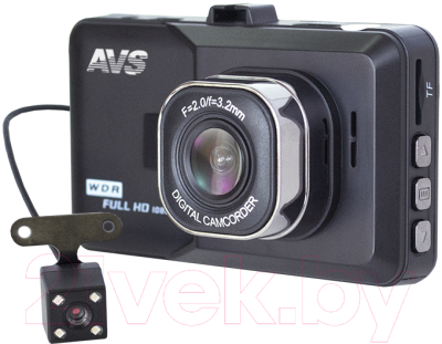 Автомобильный видеорегистратор AVS VR-202DUAL-V2 / A40210S