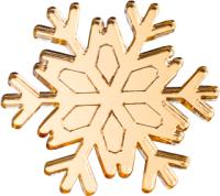 Брошь Bublik Снежинка (золото) -