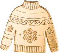Брошь Bublik Свитер (золото) -