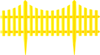 Изгородь декоративная Palisad 65016 (желтый) -