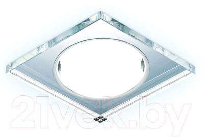 Точечный светильник Ambrella G215 CL/CH/CLD GX53+3W (хром/прозрачный)