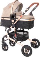 Детская универсальная коляска Lorelli Alba 3 в 1 Dark Beige / 10021472059R -