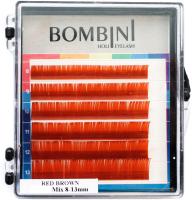 Ресницы для наращивания Bombini Holi C-0.1-mix (6 линий, медный) -
