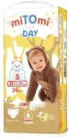 Подгузники-трусики детские MiTomi Day XL от 12 до 20кг (36шт) -