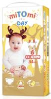 Подгузники-трусики детские MiTomi Day XXL 15+ кг (34шт) -