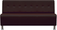 Диван Brioli Руди Р трехместный (L13/коричневый) -