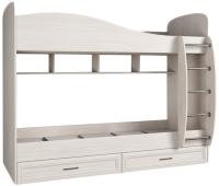 Двухъярусная кровать Астрид Мебель Принцесса / ЦРК.ПРН.10 (бодега светлая) -
