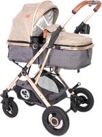Детская универсальная коляска Lorelli Sena 2 в 1 Dark Beige / 10021602059 -