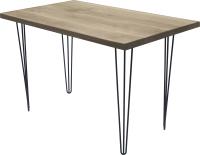 Обеденный стол Buro7 Грасхопер Классика 110x80x75 (дуб беленый/черный) -