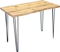 Обеденный стол Buro7 Грасхопер Классика 110x80x75 (дуб натуральный/черный) -