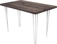 Обеденный стол Buro7 Грасхопер Классика 110x80x75 (дуб мореный/белый) -