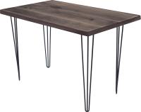 Обеденный стол Buro7 Грасхопер Классика 110x80x75 (дуб мореный/черный) -