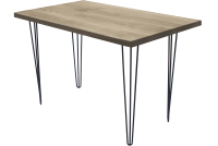 Обеденный стол Buro7 Грасхопер Классика 120x80x75 (дуб беленый/черный) -
