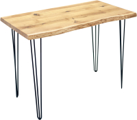 Обеденный стол Buro7 Грасхопер Классика 120x80x75 (дуб натуральный/черный) -