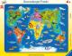 Пазл Ravensburger Карта мира с животными / R06641 (30эл) -