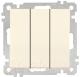Выключатель Mutlusan Daria 2100 409 0202 (кремовый) -