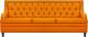 Диван Brioli Чикаго трехместный (L17/желтый) -
