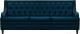 Диван Brioli Чикаго трехместный (L18/синий) -