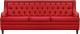 Диван Brioli Чикаго трехместный (L19/красный) -