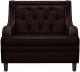 Кресло мягкое Brioli Чикаго (L13/коричневый) -